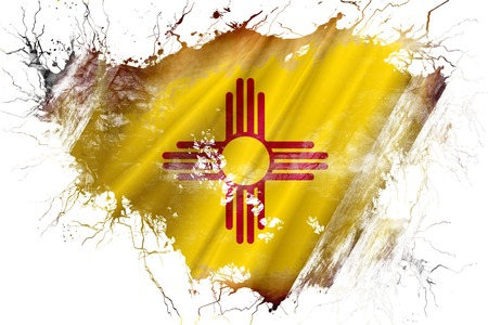 Grunge old new mexico flag