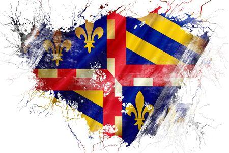bourgogne: Grunge old bourgogne flag
