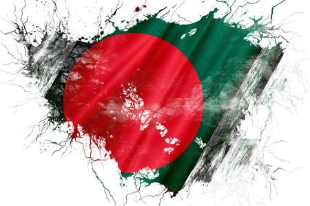 グランジ古いバングラデシュの国旗