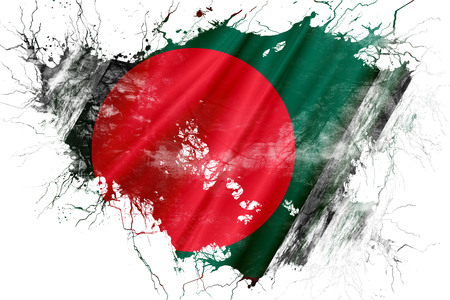 Grunge old Bangladesh flag 版權商用圖片