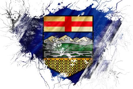 Grunge old Alberta flag Фото со стока