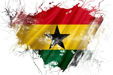ghanese: Grunge old Ghana flag