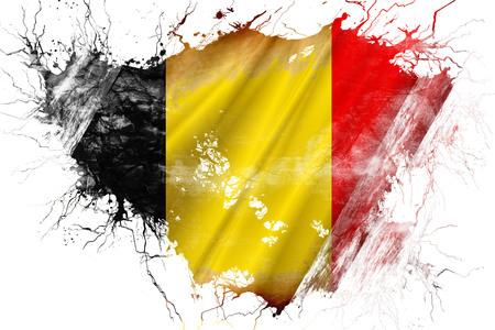 Grunge old Belgium flag