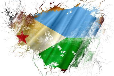 Grunge old Djibouti flag