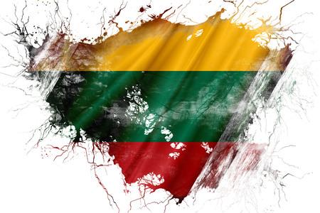 Grunge old Lithuania flag Stock Photo