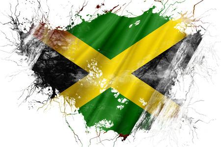 グランジ古いジャマイカの旗 写真素材