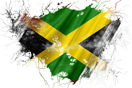 Grunge old Jamaica flag
