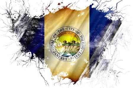 toledo: Grunge old Toledo flag Stock Photo