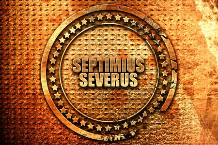 severus: septimus severus, 3D rendering, metal text Stock Photo