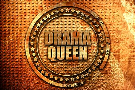 drama queen, 3D rendering, metal text Stock Photo