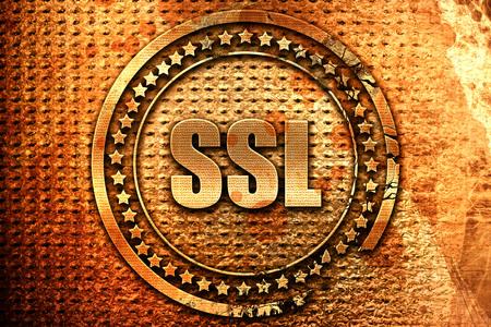 ssl, 3D rendering, metal text