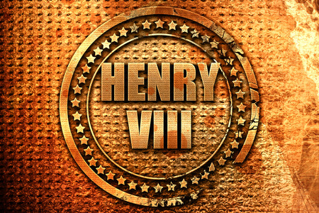 henry viii, 3D rendering, metal text Stock Photo