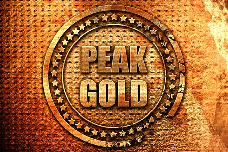 gold metal: peak gold, 3D rendering, metal text Stock Photo
