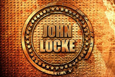 john locke, 3D rendering, metal text