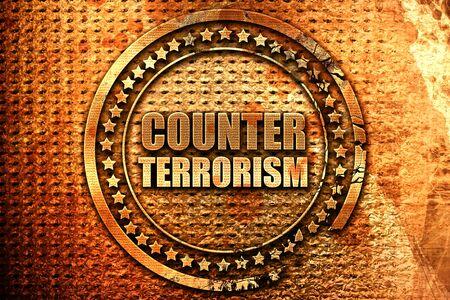 counter terrorism, 3D rendering, metal text