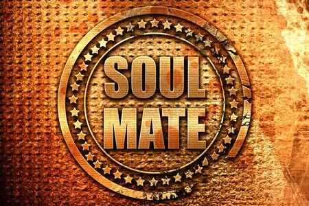 soulmate: soulmate, 3D rendering, metal text