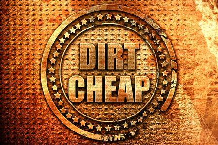 dirt: dirt cheap, 3D rendering, metal text