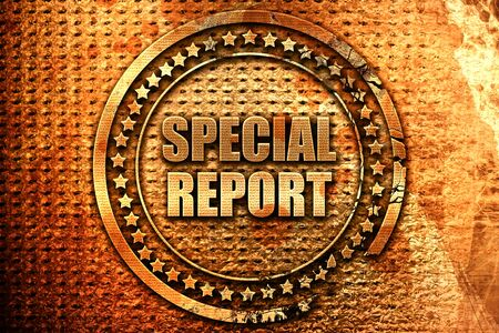biased: special report, 3D rendering, metal text