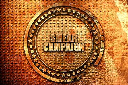 smear campaign, 3D rendering, metal text Reklamní fotografie