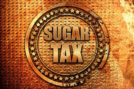 sugar tax, 3D rendering, metal text Stock Photo