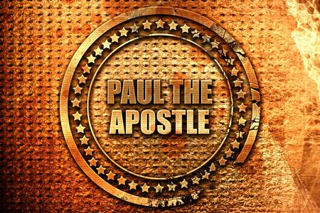 paul the apostle, 3D rendering, metal text Stock Photo