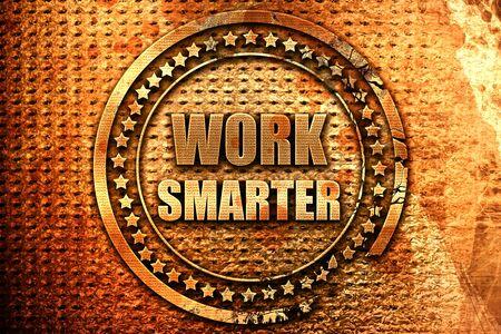 smarter: work smarter, 3D rendering, metal text