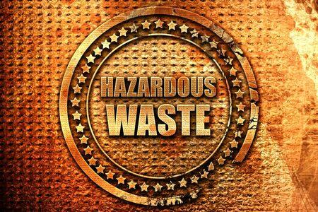 hazardous waste: hazardous waste, 3D rendering, metal text