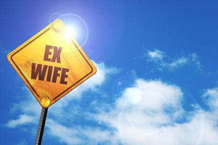 ex wife, 3D rendering, traffic sign Stock Photo