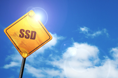 disco duro: Ssd, 3D, representación, tráfico, señal Foto de archivo