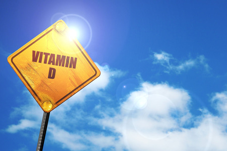 vitamin d, 3D rendering, traffic sign Фото со стока