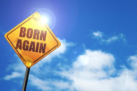 born again, 3D rendering, traffic sign