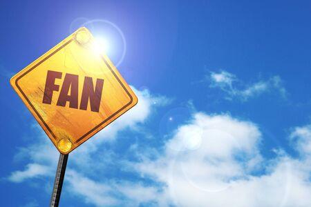 fan, 3D rendering, traffic sign