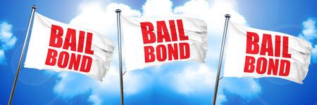 bailbond, 3D rendering, triple flags Stock Photo