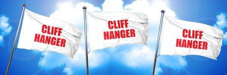 cliff hanger, 3D rendering, triple flags