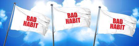habbit: bad habbit, 3D rendering, triple flags