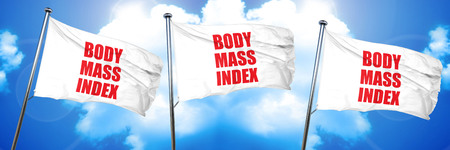 body mass index, 3D rendering, triple flags Stock Photo
