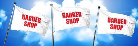 barber shop: barber shop, 3D rendering, triple flags