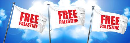 free palestine, 3D rendering, triple flags