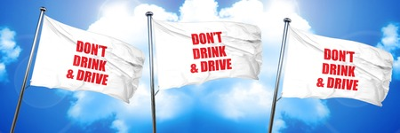 dont drink and drive, 3D rendering, triple flags Stock Photo