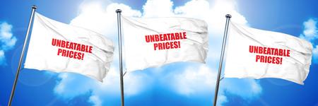 unbeatable: unbeatable prices, 3D rendering, triple flags