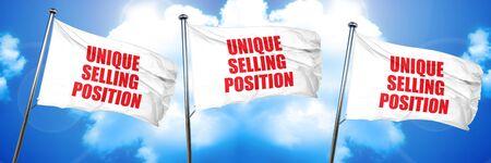 unique selling position, 3D rendering, triple flags