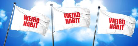 obsessive compulsive: weird habit, 3D rendering, triple flags