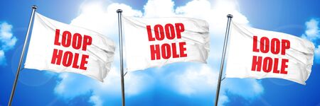 loophole: loophole, 3D rendering, triple flags