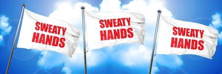 sweaty hands, 3D rendering, triple flags