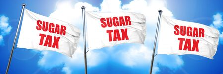 sugar tax, 3D rendering, triple flags
