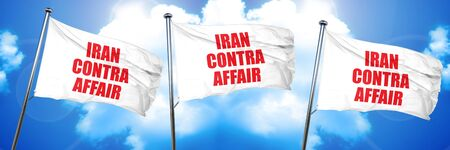 contra: iran contra affair, 3D rendering, triple flags Stock Photo