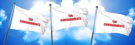 ten commandments, 3D rendering, triple flags