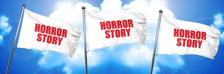 horror story, 3D rendering, triple flags Stock Photo
