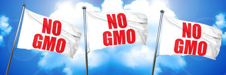 no gmo, 3D rendering, triple flags