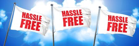 hassle: hassle free, 3D rendering, triple flags